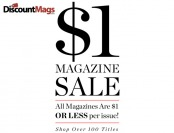 DiscountMags Weekend Sale - 100+ Titles $1 or Less per Issue