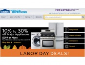 Save 10% - 30% off Major Appliances $399+ at Lowes.com