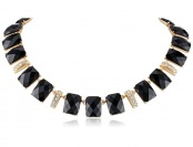 "61% off Anne Klein ""Starry Night"" Pave Drama Collar Necklace"