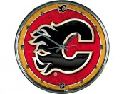 85% off NHL Calgary Flames Chrome Clock