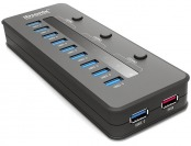 65% off iDsonix USB 3.0 10 Port Hub + 5V 2.1A Smart Charging Port