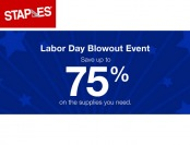 Save up to 75% off During Staples Labor Day Blowout Sale Event