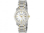 $271 off Bulova Women's 98R107 Diamond Accented Calendar Watch