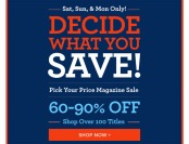 Labor Day Magazine Sale - Up to 90% off Subscriptions, 100+ Titles