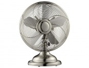 "50% off Init NT-RETRO-S Retro Stainless-Steel 12"" Table Fan"