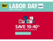 Labor Day Major Appliances Sale - Up to 40% off at Best Buy
