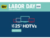 Labor Day Sale - Up to 25% off HDTVs at Best Buy