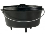 60% off Lodge 8 Quart Cast Iron Deep Camp Dutch Oven, L12DCO3