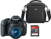 $93 off Canon EOS Rebel T3i DSLR w/ Lens, Bag & 8GB Memory Card
