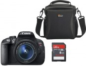 16% off Canon EOS Rebel T5i 18MP DSLR w/ Lens, Bag & Memory Card