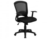 81% off Flash Furniture Mid-Back Office Chair w/ Padded Mesh Seat