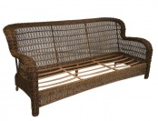 75% off Allen + Roth Belanore Coffee Steel Strap Patio Sofa