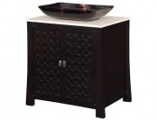 "68% off World Imports 30"" Single Basin Vanity with Cream Marble Top"