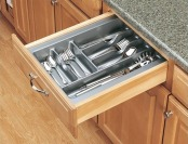 77% off Rev-A-Shelf Glossy Cutlery Tray, Medium, Metallic Silver