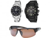 90% off Pro Diver & Swiss Legend Watch + Columbia Sunglasses