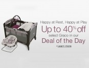 40% off select Graco Playards, Swings, and Rockers