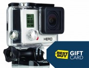Free $25 Gift Card with GoPro Hero3 White Edition Purchase