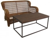 75% off allen + roth Belanore Patio Loveseat & Coffee Table Set