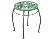 "80% off Garden Treasures 15"" Green Steel Round Plant Stand"