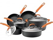 $155 off Rachael Ray Hard Anodized II Nonstick 10-Pc Cookware Set