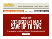 Cabelas's Deep-Discount Deals - Up to 70% off