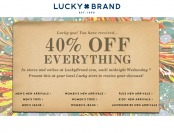 Deal: 40% Off Everything at Lucky Brand