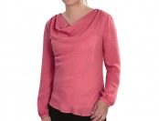 85% off Lands' End Georgette Drape Neck Blouse, 3 Styles