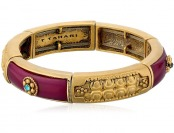 73% off T Tahari Worn Gold Colored Stretch Bracelet