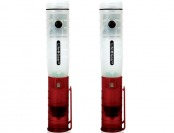 52% off 2-Pack Life Gear 3 In 1 Glow Auto Rechargeable LED Flashlights