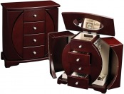 $35 off Mele & Co Mahogany Upright Oval Jewelry Box