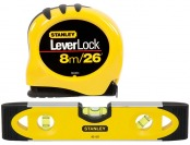 86% off Stanley LeverLock 26-ft Tape Measure with Level Set