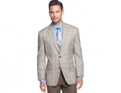 $220 off Michael - Michael Kors Light Tan Windowpane Sport Coat