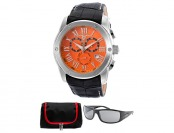 $955 off Swiss Legend Traveler Watch w/ Sunglasses and Bag