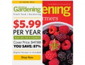 87% off Organic Gardening Magazine, $5.99 / 6 Issues