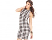 56% off Say What? Juniors' Plaid-Print Bodycon Dress