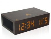 61% off GOgroove BlueSYNC Stereo Speaker & Wooden Alarm Clock