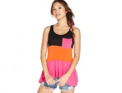 86% off eric + lani Juniors' Colorblock Top