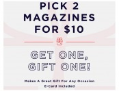DiscountMags Sale - Pick 2 Magazines for $10