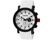 94% off Red Line Compressor Chronograph White Silicone Watch