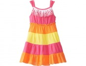 87% off Youngland Little Girls' Tiered Colorblock Dress