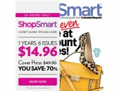 $35 off ShopSmart Magazine Subscription, $14.96 / 6 Issues