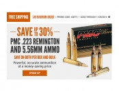 Cabela's Holiday Ammo Sale - 30% off PMC .223 Rem & 5.56 Ammo