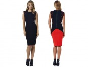 $81 off Adrienne Vittadini Tattersall Dress, Lacquer/Black
