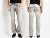 68% off Aeropostale Bowery Slim Straight Bleached Grey Jeans