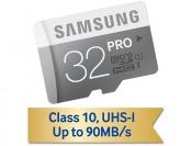 74% off Samsung 32GB PRO Class 10 Micro SDXC Memory Card