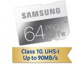 50% off Samsung 64GB PRO Class 10 SDXC Memory Card