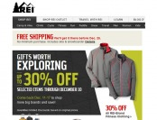REI Limited Time Holiday Season Deals - Up to 30% Off