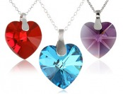 65% off Sterling Silver Swarovski Heart Pendant Necklace