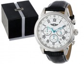 $447 off I By Invicta Men's Chronograph Black Leather Watch