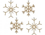 90% off MarthaHoliday Into the Woods Jute Snowflake Ornaments